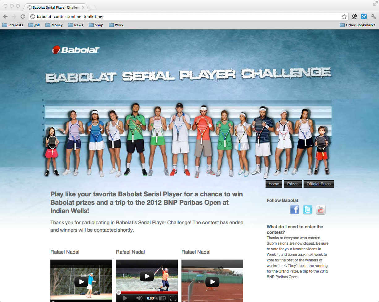 Using WordPress and YouTube to Create a Contest for Babolat